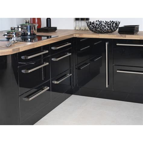 high gloss kitchen cabinets doors apollo black high gloss vinyl wrapped replacement kitchen