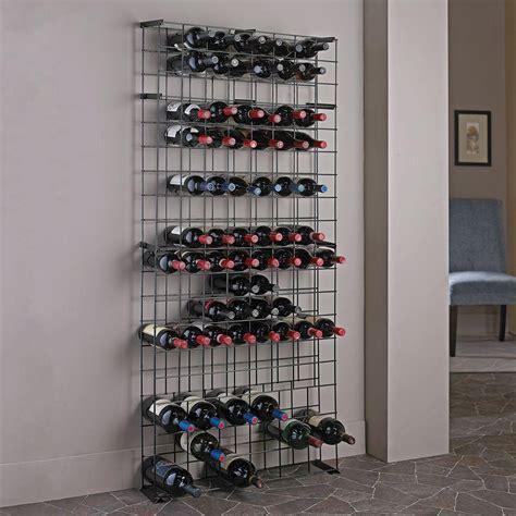 Wine Enthusiast 138bottle Black Floor Wine Rack631 12 02