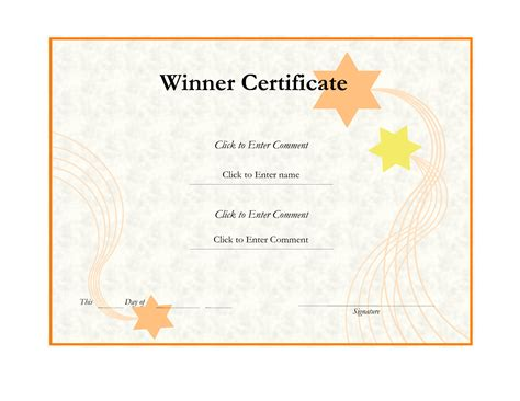 Winner Certificate Template Effective Winner Certificate Template Design By Lizzy2008
