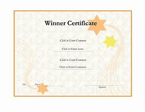 Winner certificate template helloalive for Winner certificate template