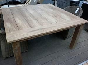 Table Carre Exterieur : tables de jardin la maison du teck meuble et d co en teck ~ Teatrodelosmanantiales.com Idées de Décoration