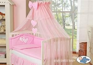 Kinderbett Für Baby : my sweet baby kinderbett babybett himmel bettset herzchen ~ Watch28wear.com Haus und Dekorationen