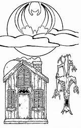 Haunted Coloring Halloween Pages Ghost Houses Printable Witches Scary Easy Getcoloringpages Someone These Find Fun Popular Central sketch template