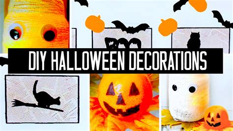 super easy affordable diy halloween decorations