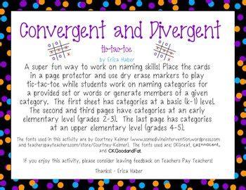 freebie convergent divergent naming game language