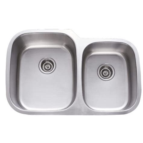 60 40 stainless steel sink 31 inch stainless steel undermount 60 40 double bowl