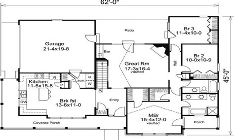 Craftsman Floor Plans by Craftsman Bungalow Ranch House Floor Plans Addition Ranch