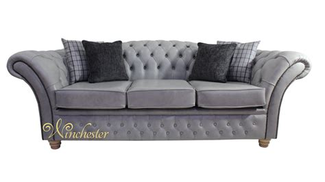 Three Seater Settees by Chesterfield Churchill 3 Seater Sofa Settee Stella