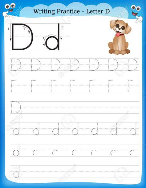writing practice letter  kindergarten worksheet chapter