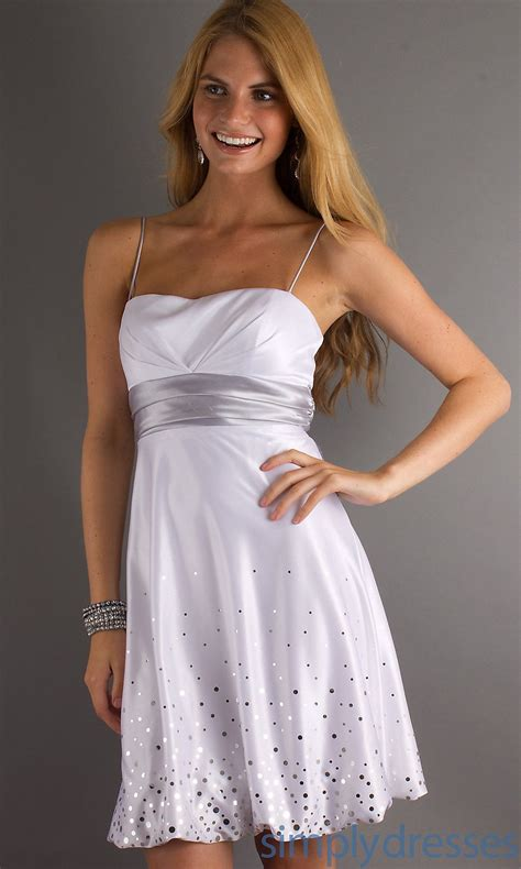 FrontView   Casual cocktail dress, Short white dress ...