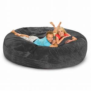 relax sack 839 bean bag sofa bed charcoal beanbagtowncom With bean bag chair with bed inside