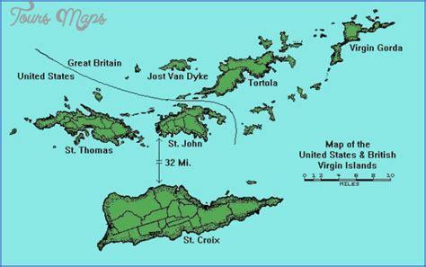 Map Us And British Virgin Islands