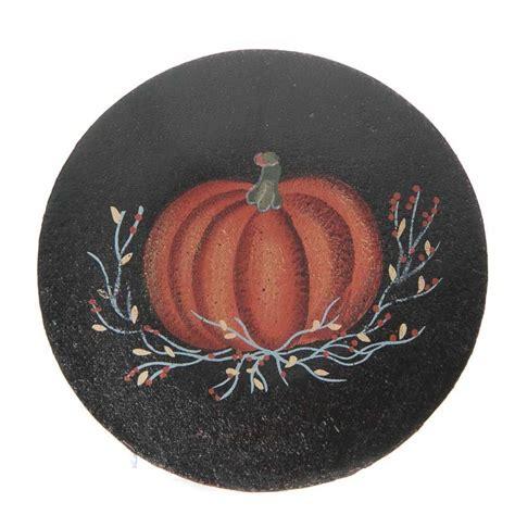 primitive fall pumpkin wood plate decorative plates