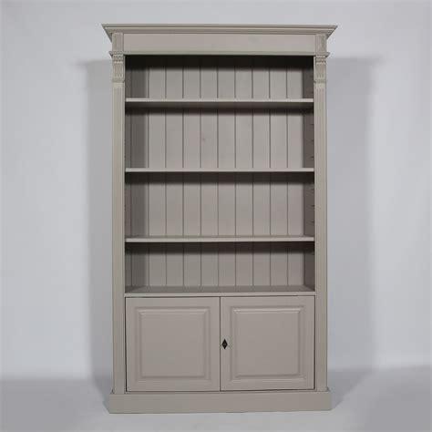meuble bureau bibliotheque bibliothèque bois massif 4 étagères ouvertes taupe made
