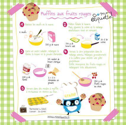 recette de cuisine pour enfants muffins c monetiquette mon cahier de recettes illustrees muffins et fruit