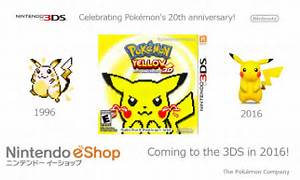 pokemon yellow 3d remake cover