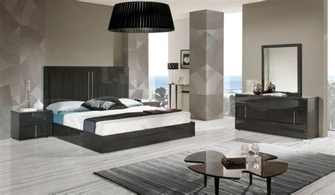 modrest ari italian modern grey bedroom set modern