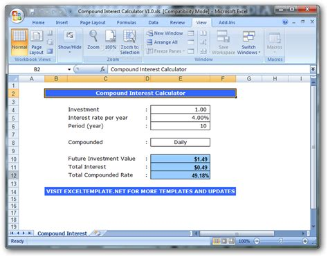 Download Compound Interest Calculator 10