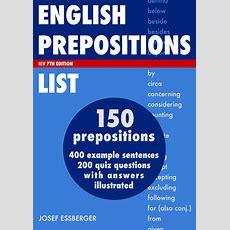 English Prepositions List Ebook By Josef Essberger  Englishclub Esl Store