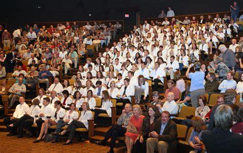 white coat ceremony texas  veterinary medicine