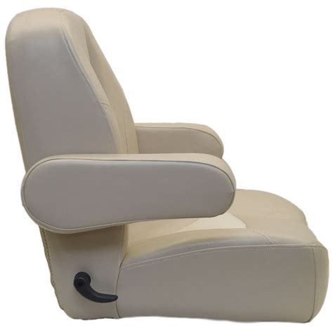 captain chairs for boats deluxe vinyl reclining marine pontoon boat