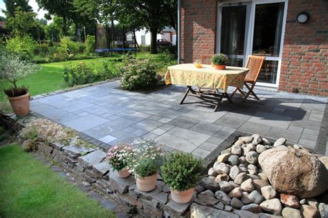 Garten Terrasse Bilder|gartenterrasse Von Natursteinmauer