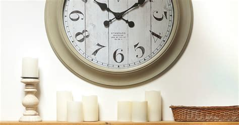 Better Home & Gardens Farmhouse Wall Clock Only .99