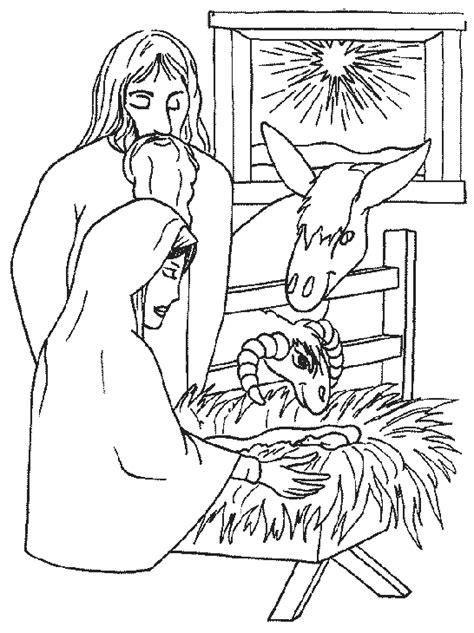 Kerst Kribbe Kleurplaat by Kerstmis Kleurplaat Kerstkribbe