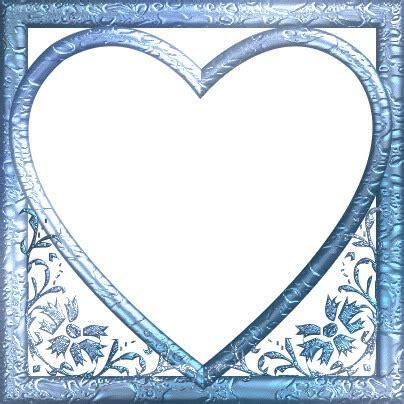 montage photo cadre coeur bleu pixiz