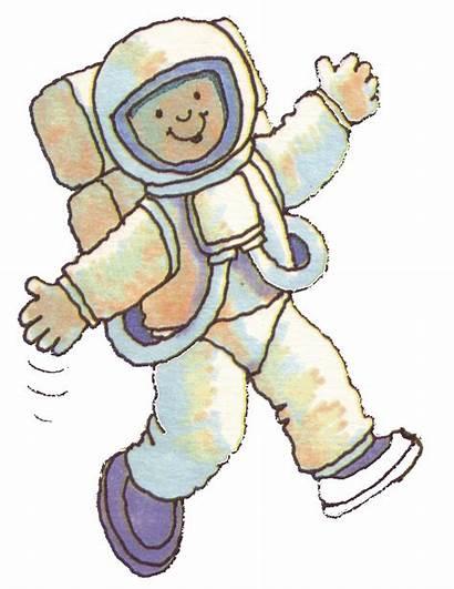 Astronaut Clipart Clip Space Cosmonaut Astronauts Spaceman