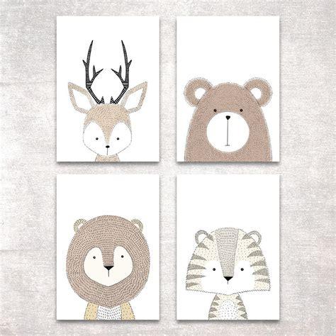 Bilder Für Kinderzimmer Junge by Bild Set Tiere Kunstdruck A4 Hirsch B 228 R Tiger L 246 We