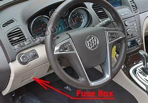 Fuse Box Diagram Buick Regal  2011