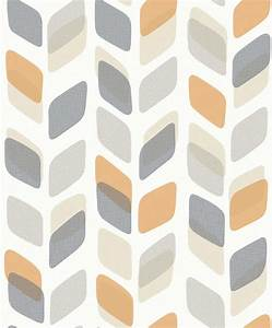 Geometric Trail by Albany - Orange : Wallpaper Direct