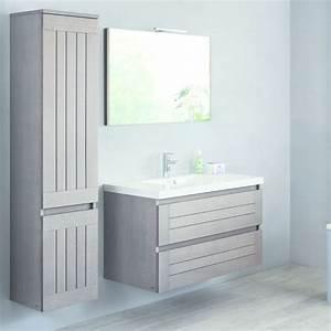 ligne de meubles de salle de bain en chene lignum sanijura With meuble salle de bain maxi bazar