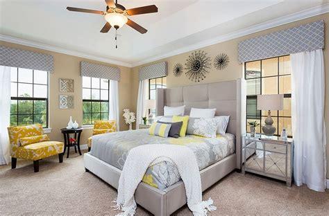 cheerful sophistication  elegant gray  yellow bedrooms