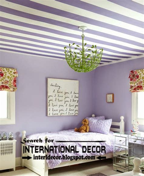 striped ceiling paint designs  nursery kids ceiling