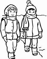 Winter Clothes Line Draw Clipart sketch template