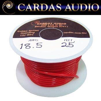 cardas 18 5 awg 1 1mm dia litz copper multistrand wire hifi collective