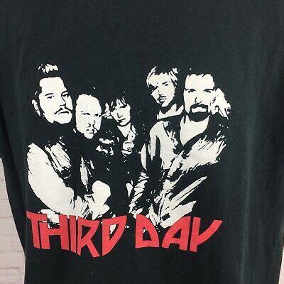 Vintage 2004 Third Day Live T-Shirt Christian Rock Tour ...