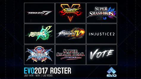 evo 2017 line up revealed new gamer nation
