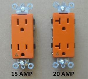 Decora Isolated Ground Receptacle Plug Decorative Outlet 120v 15a 20a Amp Orange