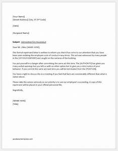 Reprimand letter writing guide with sample template word for Letter of reprimand template