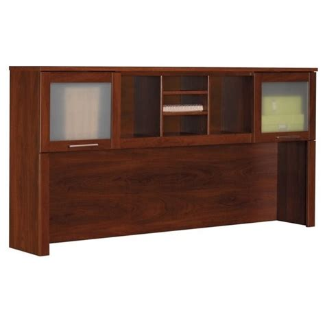 Bush Somerset Executive Desk by Somerset Hutch For 70 Inch L Desk In Hansen Cherry Wc81711