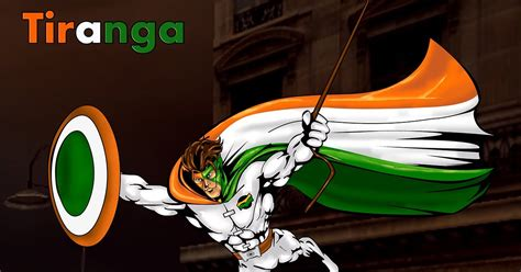 Superhero Artwork Tiranga