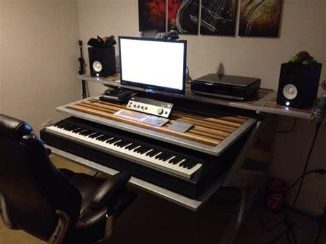 bureau home studio personnalisé montage desk studio fait a v