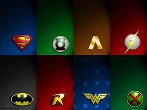 JLA Symbols - DC Comics Wallpaper (9263398) - Fanpop