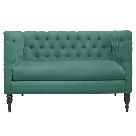 Button Tufted Chaise Settee by Button Tufted Linen Settee Intriguing Interiors Home
