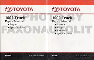 1992 Toyota 2wd 4 Cyl  Truck Automatic Transmission Repair Shop Manual