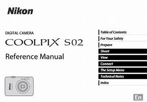 Nikon Coolpix S02 Manual  Camera Owner User Guide And