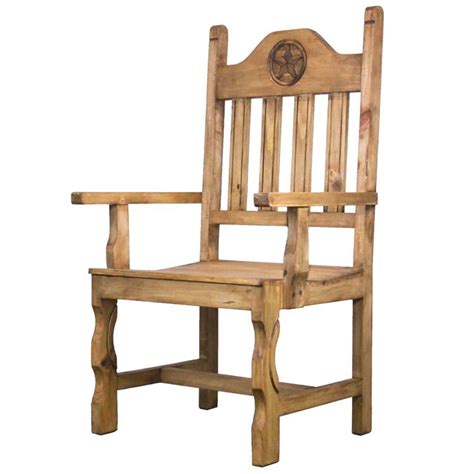 rustic pine collection pueblo arm chair sil534